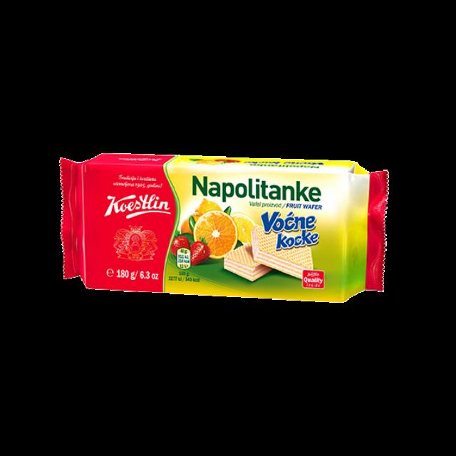 Nápolyi gyümölcsös ízű krémmel töltve