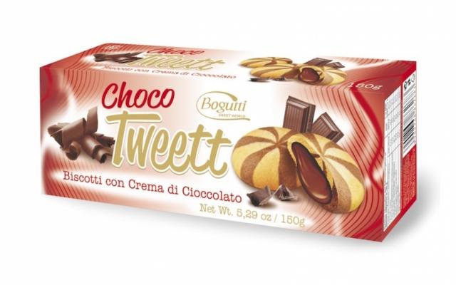 Csokoládé krémmel töltött keksz