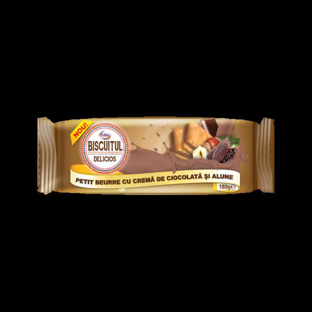 PETIT BUERRE Csokoládé-mogyoró ízű töltelékkel