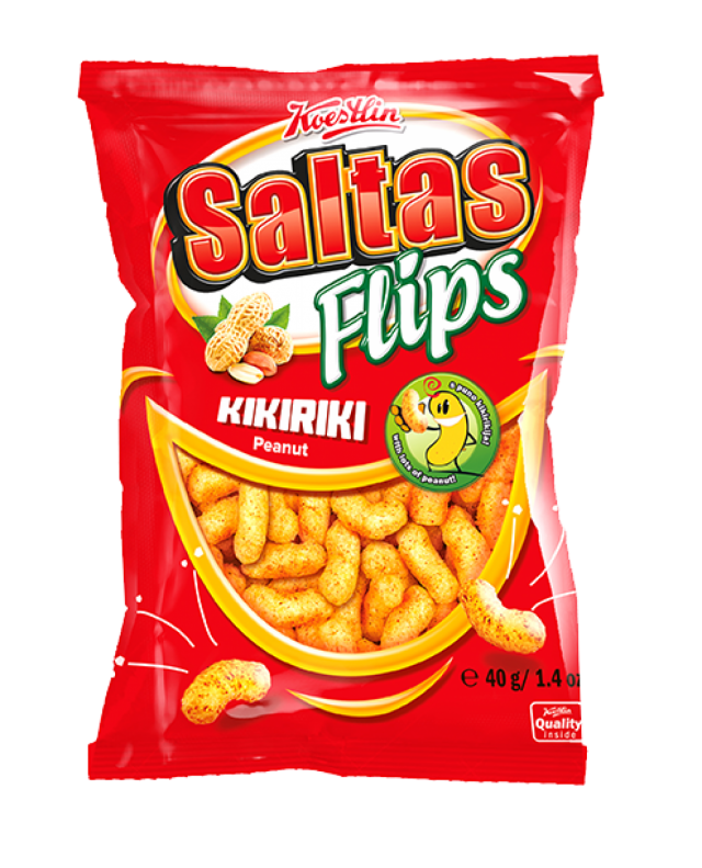 Saltas Flips - mogyorós extrudált kukorica snack, 40g