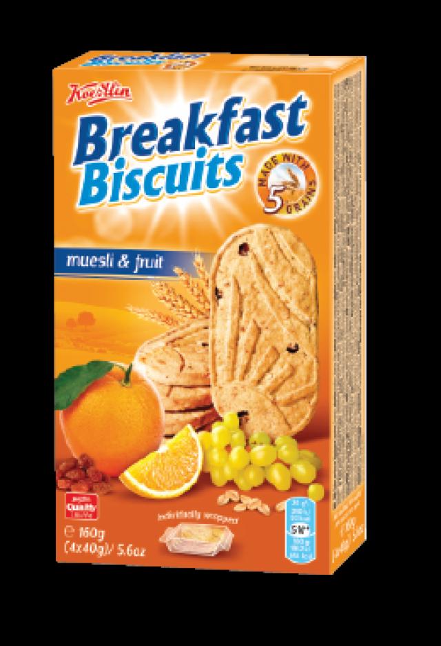 Breakfast Biscuits - müzlivel és gyümölccsel